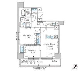 パークアクシス西巣鴨12階Fの間取り画像