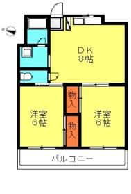 ドムスアルバ2階Fの間取り画像
