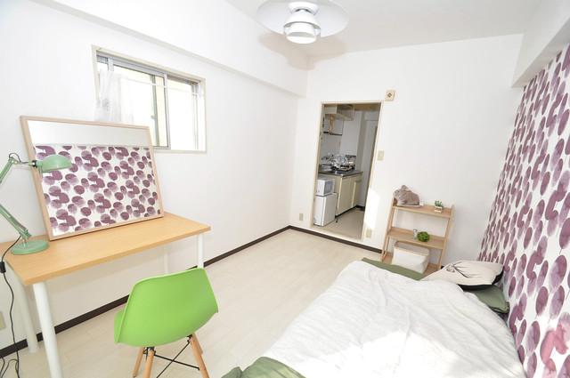メゾンドール新今里 朝には心地よい光が差し込む、このお部屋でお休みください。