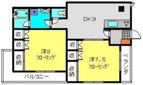 メゾン篠原4階Fの間取り画像
