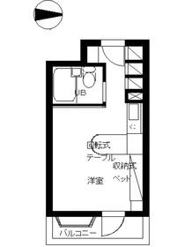 インペリアル南麻布サテライト3階Fの間取り画像