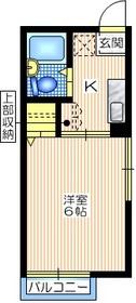 シティハイム 向陽R1階Fの間取り画像