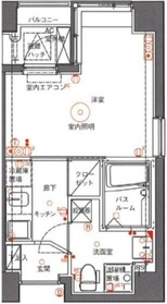 アランシア鶴見9階Fの間取り画像