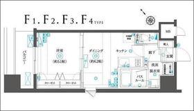 フェニックスヨコハマスクエア4階Fの間取り画像