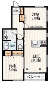 ヘーベルメゾン稲城3階Fの間取り画像