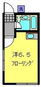 日吉本町駅 徒歩4分2階Fの間取り画像