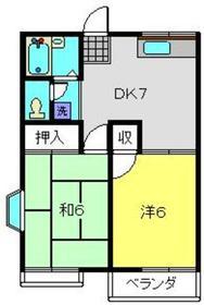 さくらコーポ2階Fの間取り画像