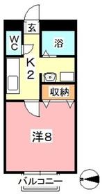 国木田ヴィラ1階Fの間取り画像
