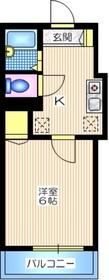メゾンDARC EN CIEL1階Fの間取り画像
