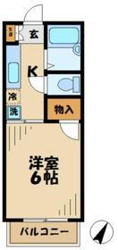 アミッド2階Fの間取り画像
