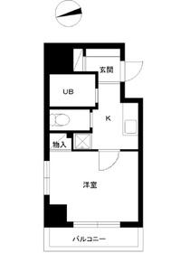 スカイコートヴァンテアン早稲田8階Fの間取り画像