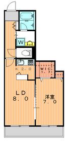 ベルティス世田谷2階Fの間取り画像
