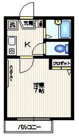 新中野駅 徒歩6分2階Fの間取り画像