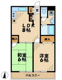 トウタクサン4階Fの間取り画像