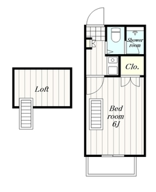 ウッドコーポ1階Fの間取り画像