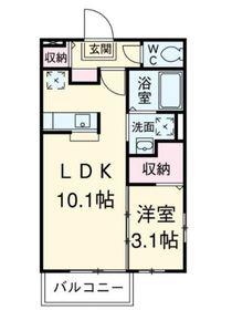 ル・クードール1階Fの間取り画像