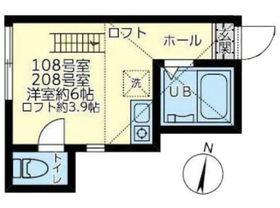 ユナイトミカサ末吉1階Fの間取り画像