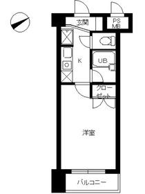 スカイコート新宿新都心2階Fの間取り画像