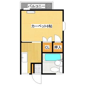使いやすい1Kタイプのお部屋です