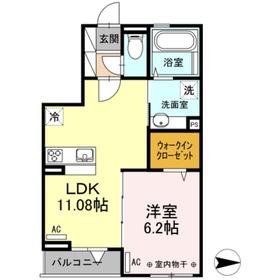ラピュタ ウィングス3階Fの間取り画像