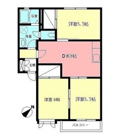 ドルフ城所・I2階Fの間取り画像