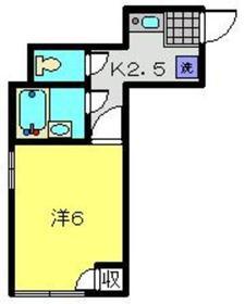 パオ桜ヶ丘1階Fの間取り画像