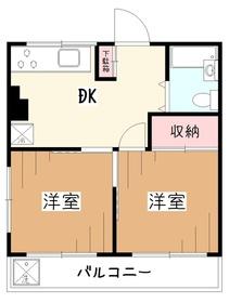 アイ・ジー・コーポ久米川4階Fの間取り画像