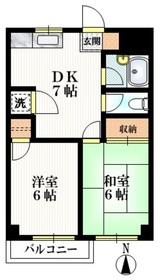 パラドーラ世田谷3階Fの間取り画像