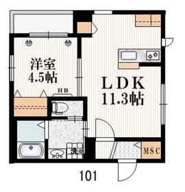 Comfort Senkawa1階Fの間取り画像