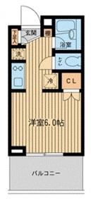 レジディア川崎12階Fの間取り画像