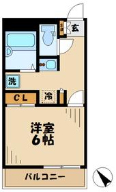 本厚木駅 バス15分「林」徒歩9分1階Fの間取り画像