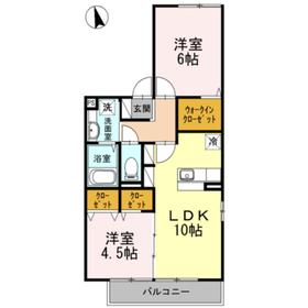下赤塚駅 徒歩10分1階Fの間取り画像