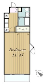 ヤママサ第10ビル4階Fの間取り画像