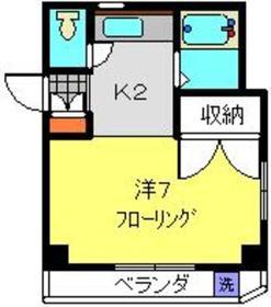 塚原レジデンス2階Fの間取り画像