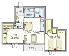 へーベルVillage稲田堤・Rio Village1階Fの間取り画像