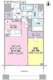 クオリア目黒大橋ウエスト3階Fの間取り画像