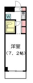 キューブ平和台2階Fの間取り画像