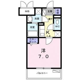 ログコートⅡ3階Fの間取り画像