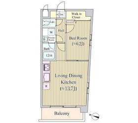 ALIVIO西麻布6階Fの間取り画像