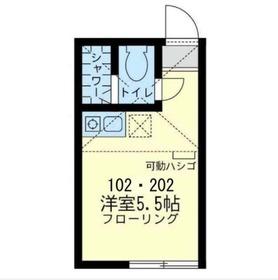 セリジエ川崎2階Fの間取り画像