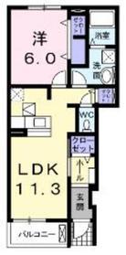 ラフィネメゾンⅠ1階Fの間取り画像