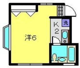 アビタシオンM堀ノ内C棟2階Fの間取り画像