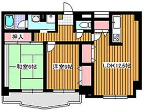 成増駅 徒歩9分6階Fの間取り画像