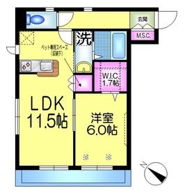 へーベルメゾン新浦安2階Fの間取り画像