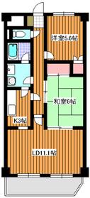 サンバレー1階Fの間取り画像