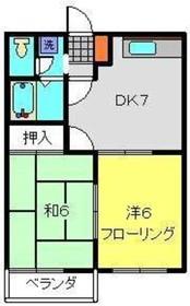 コンフォルト231階Fの間取り画像