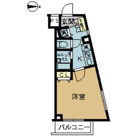 スカイコート阿佐ヶ谷第52階Fの間取り画像