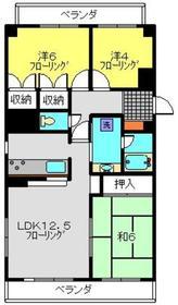 ベルハウス山手2階Fの間取り画像