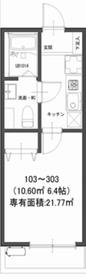鶴見駅 徒歩9分2階Fの間取り画像