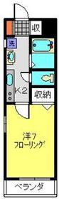 メゾンクレイン1階Fの間取り画像